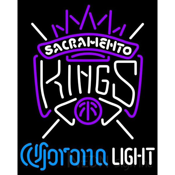 Corona Light Neon Logo Sacramento Kings NBA Neon Sign 2 0006