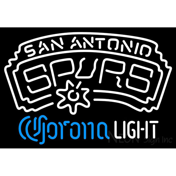 Corona Light Neon Logo San Antonio Spurs NBA Neon Sign 2 0006