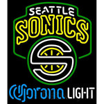 Corona Light Neon Logo Seattle Supersonics NBA Neon Sign 2 0006
