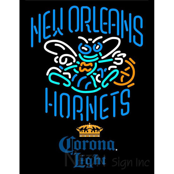 Corona Light New Orleans Hornets NBA Neon Sign 2 0007