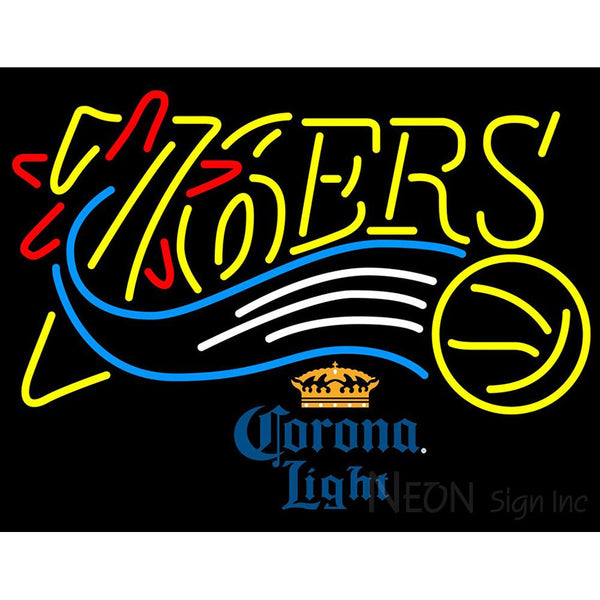Corona Light Philadelphia 76ers NBA Neon Sign 2 0007