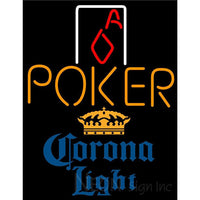 Corona Light Poker Squver Ace Neon Sign 1
