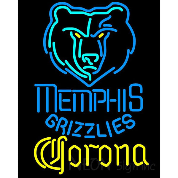 Corona Memphis Grizzlies NBA Neon Sign