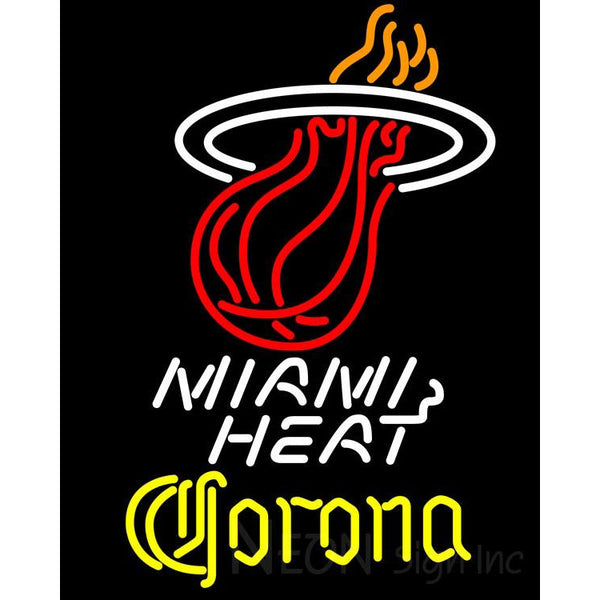 Corona Miami Heat NBA Neon Sign