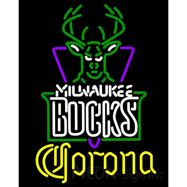 Corona Milwaukee Bucks NBA Neon Sign