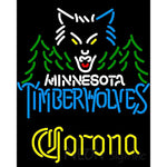 Corona Minnesota Timber Wolves NBA Neon Sign