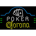 Corona Poker Ace Cards Neon Sign
