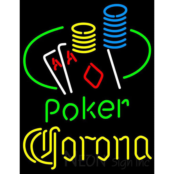 Corona Poker Ace Coin Table Neon Sign