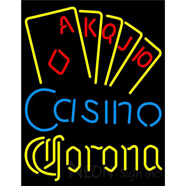 Corona Poker Casino Ace Series Neon Sign