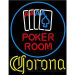 Corona Poker Room Neon Sign
