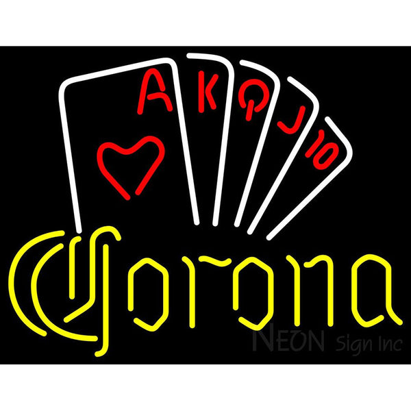 Corona Poker Series Neon Sign