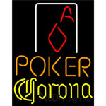 Corona Poker Squver Ace Neon Sign