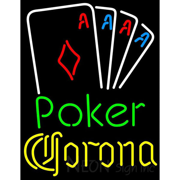 Corona Poker Tournament Neon Sign