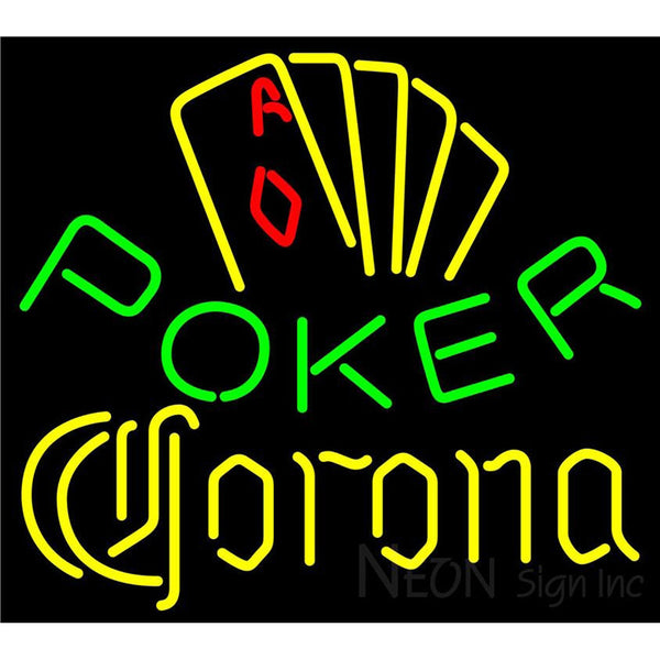Corona Poker Yellow Neon Sign