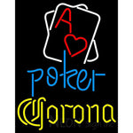 Corona Rectangular Black Hear Ace Neon Sign