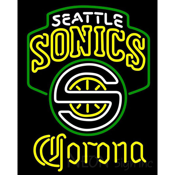 Corona Seattle Supersonics NBA Neon Sign