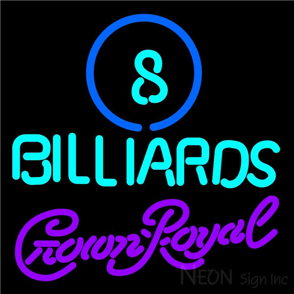 Crown Royal Ball Billiards Pool Neon Sign 8 0003 16x16