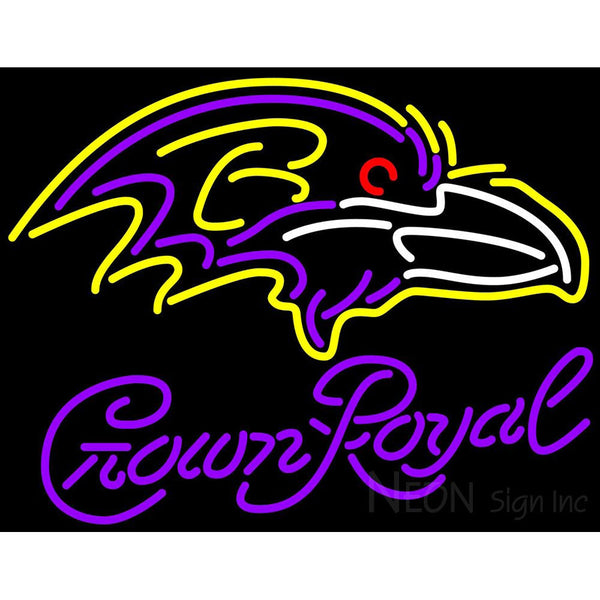 Crown Royal Baltimore Ravens NFL Neon Sign 1 0011