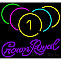Crown Royal Billiards Rack Pool Neon Sign 8 0005 24x22