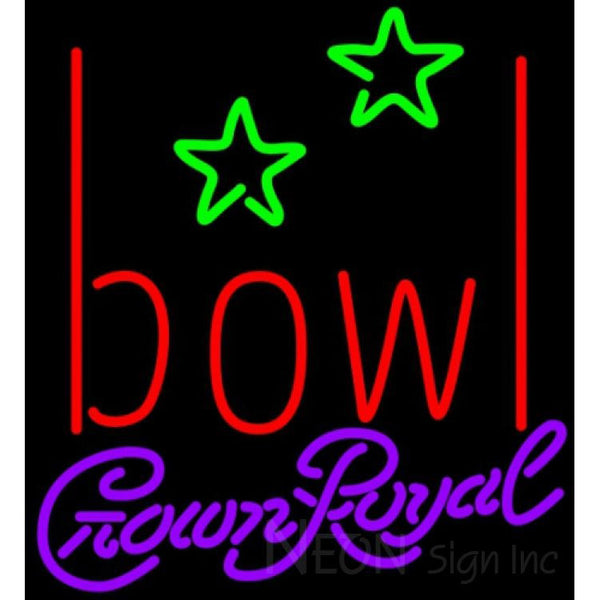 Crown Royal Bowling Alley Neon Sign 9 0001 22x24