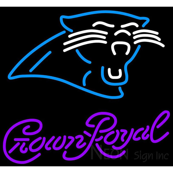 Crown Royal Carolina Panthers NFL Neon Sign 1 0012