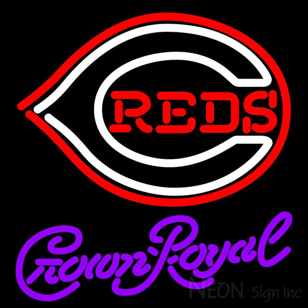 Crown Royal Cincinnati Reds MLB Neon Sign 3 0005 16x16