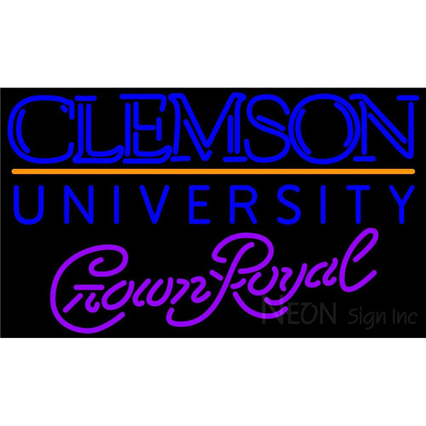 Crown Royal Clemson UNIVERSITY Neon Sign 4 0013