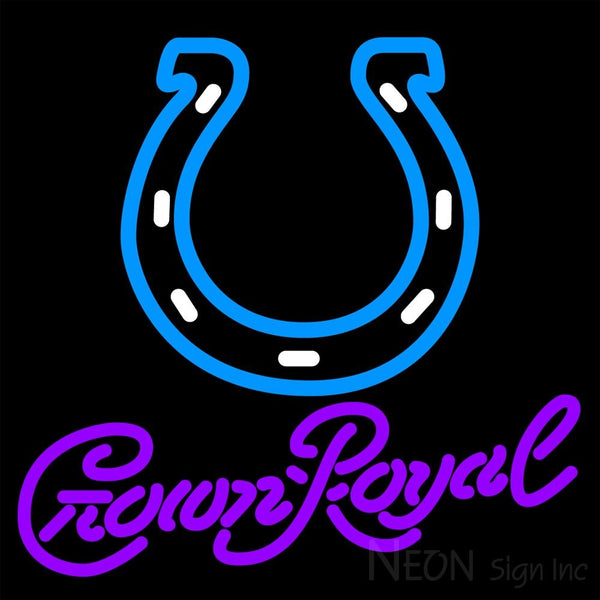 Crown Royal Indianapolis Colts NFL Neon Sign 1 0013 16x16