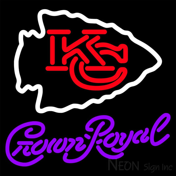Crown Royal Kansas City Chiefs NFL Neon Sign 1 0013 16x16