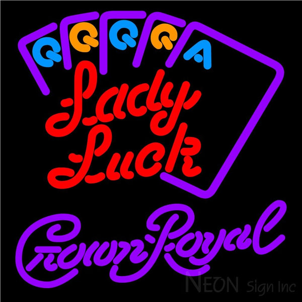 Crown Royal Lady Luck Series Neon Sign 16x16