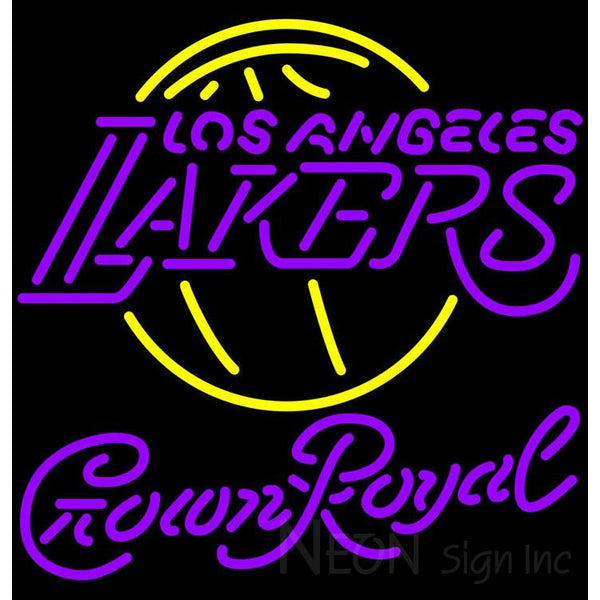 Crown Royal Los Angeles Lakers NBA Neon Sign 2 0008