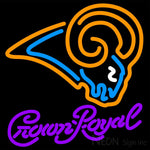 Crown Royal St Louis Rams NFL Neon Sign 1 0013 16x16