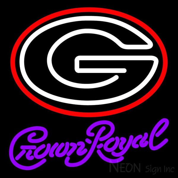 Crown Royal University Of Georgia Neon Sign 4 0021 16x16
