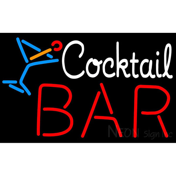 Custom Bar With Cocktail Neon Sign 2