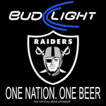 Bud Light Oakland Raiders One Beer One Nation Neon Sign 1