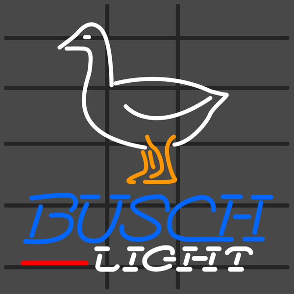 Custom Busch Light with Goose Neon Sign