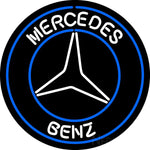 Merchedes Benz White Neon Sign