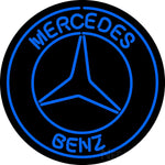 Merchedes Benz Blue Neon Sign
