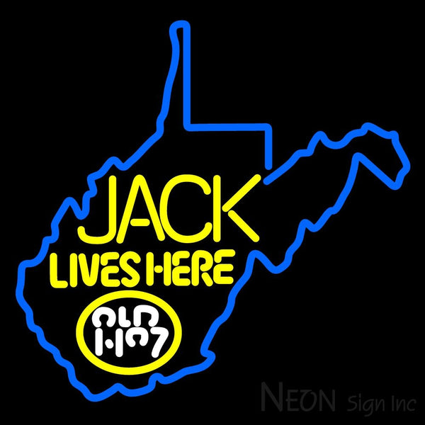West Viginia Jack Lives Here Neon Sign