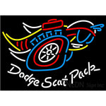 Dodge Scat Pack Mopar Logo Neon Sign