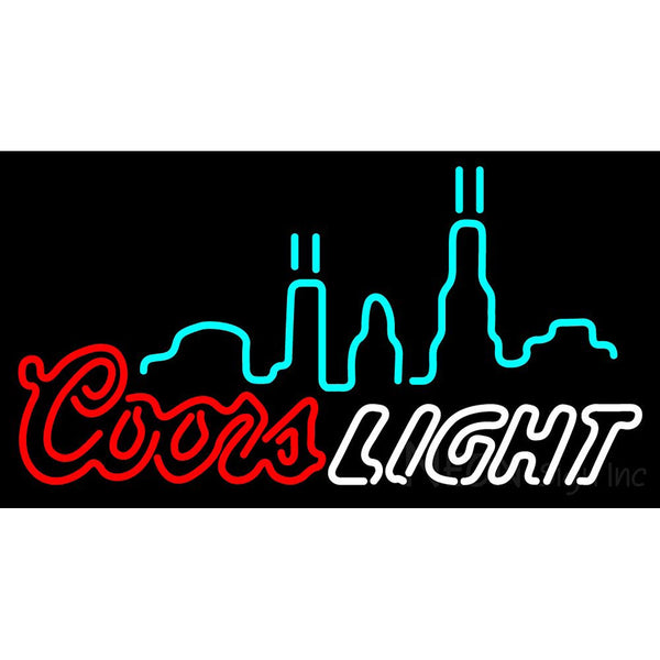 Double Stroke Coors Light City Logo Neon Sign