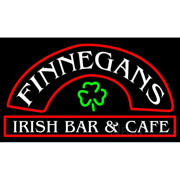 Finnegans Round Text Neon Sign