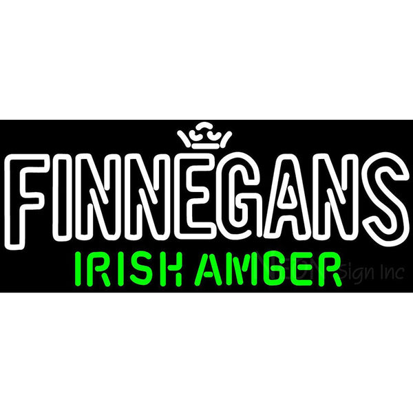 Finnegans Text Neon Sign