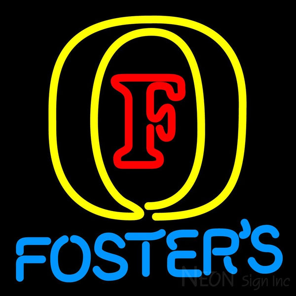 Fosters Initial Neon Beer Sign 16x16