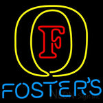 Fosters Initial Neon Beer Sign 24x24