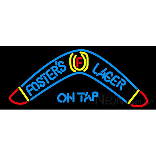 Fosters Lager Boomerang Neon Beer Sign