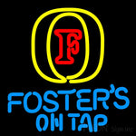 Fosters On Tap Neon Beer Sign 16x16