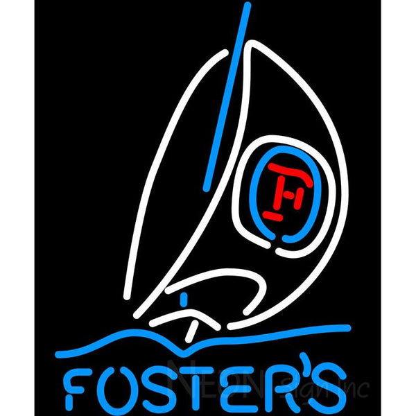 Fosters Sailboat Neon Beer Sign
