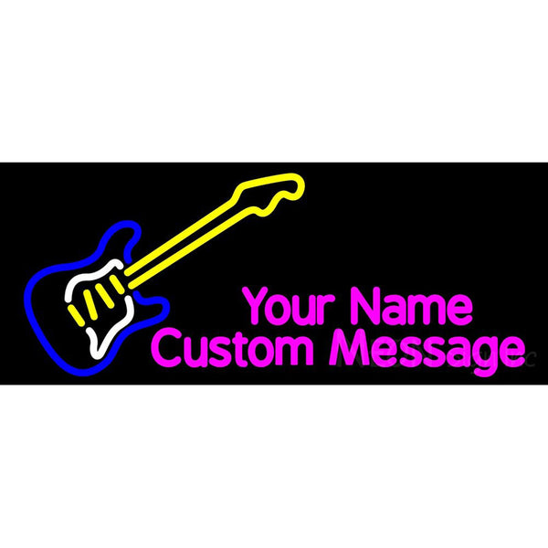 Guitar Logo Neon Sign