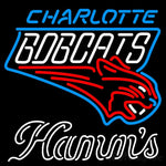 Hamms Charlotte Bobcats NBA Neon Beer Sign